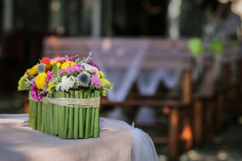 wedding venue, vase, flower, garden, outdoors, patio, bouquet, summer, table, party