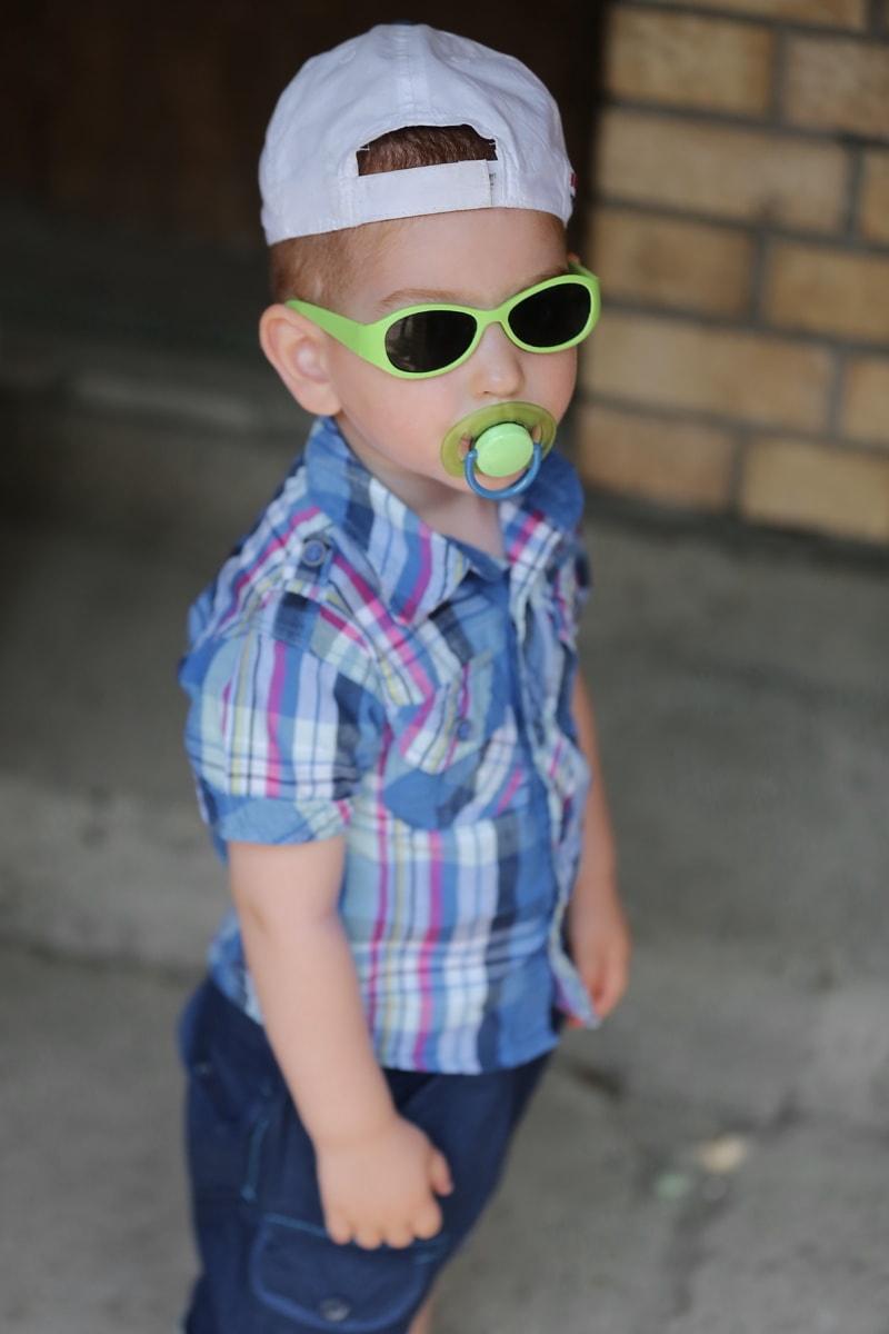 enfant en bas âge, bébé, drôle, visage, lunettes de soleil, fils, garçon, enfant, mignon, Portrait