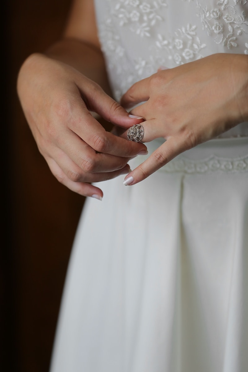 rings, wedding ring, wedding, wedding dress, hands, finger, lady, bride, woman, hand