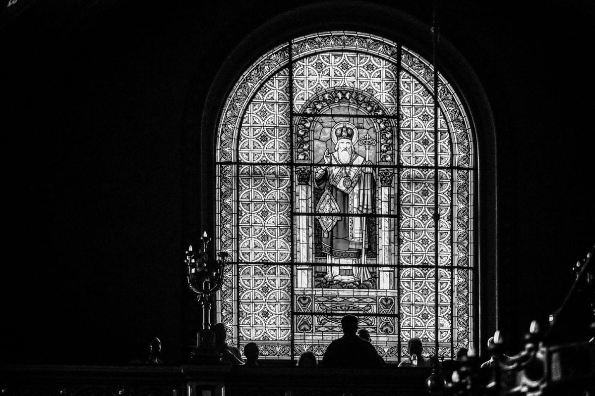 verre souillé, Église, Cathédrale, fenêtre, religion, cadre, architecture, vieux, Création de, antique