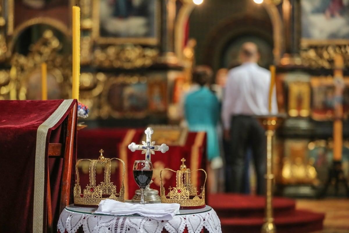 Krönung, Krone, Taufe, Christentum, orthodoxe, Russisch, Struktur, Altar, Religion, Gold