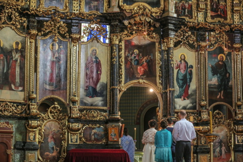 wedding, altar, church, russian, orthodox, religious, chair, religion, art, architecture