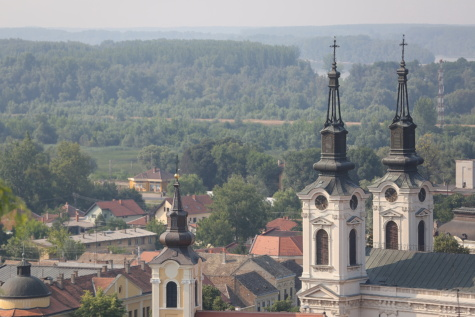Sremski Karlovci, Serbia, church tower, church, panorama, building, residence, house, architecture, tower, monastery, religion