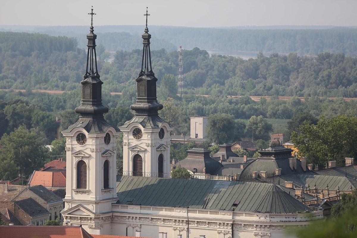 Kirchturm, Kirche, Stadt, Panorama, Byzantinische, orthodoxe, Kloster, Kathedrale, Architektur, Religion