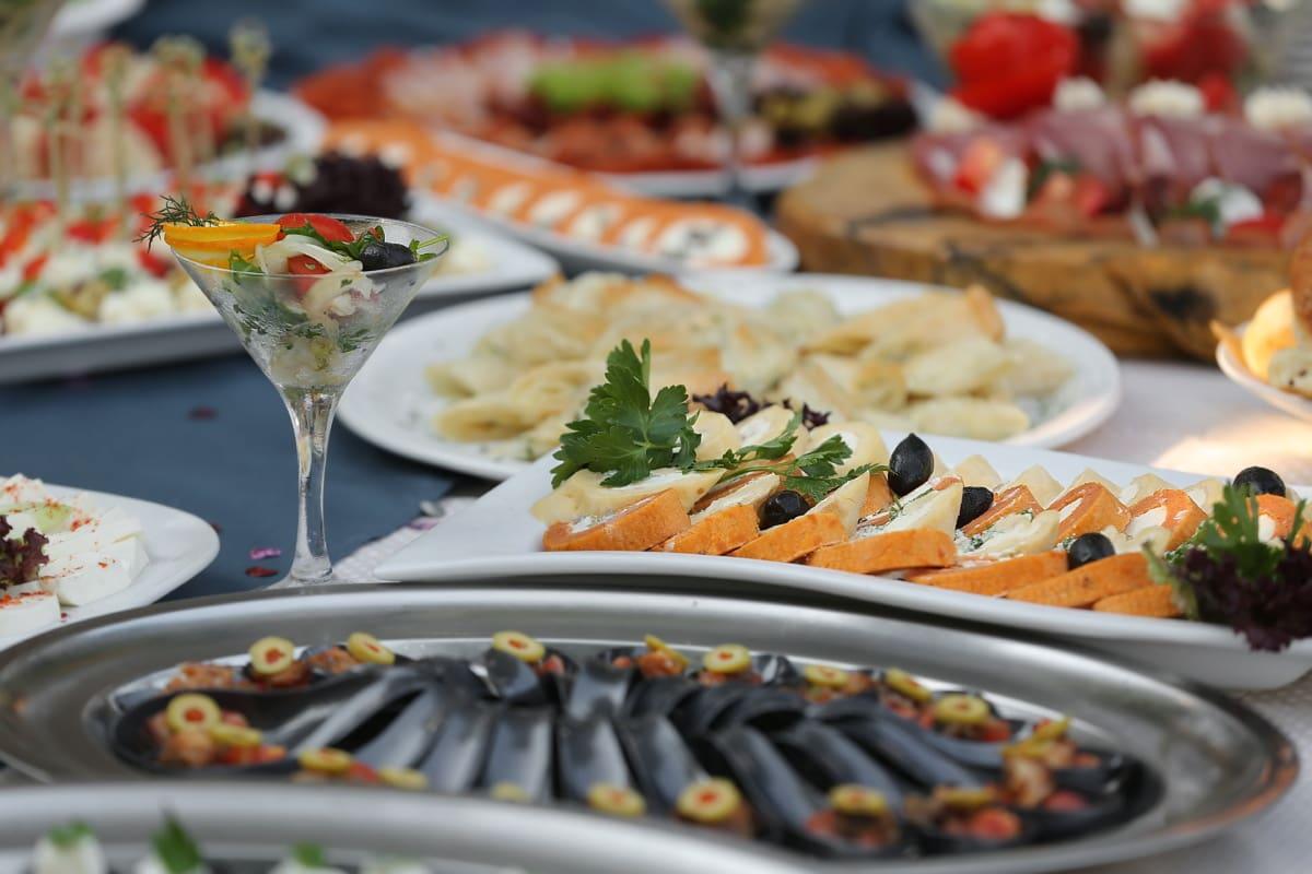 caviar, seafood, buffet, snack, cocktails, salad bar, banquet, breakfast, cheese, dinner