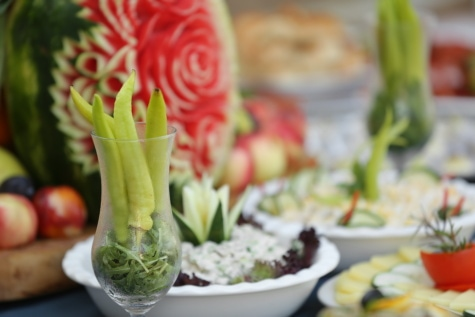 saus cabai, cabai, salad, prasmanan, makanan, Makanan, sayur, makan malam, segar, sayuran