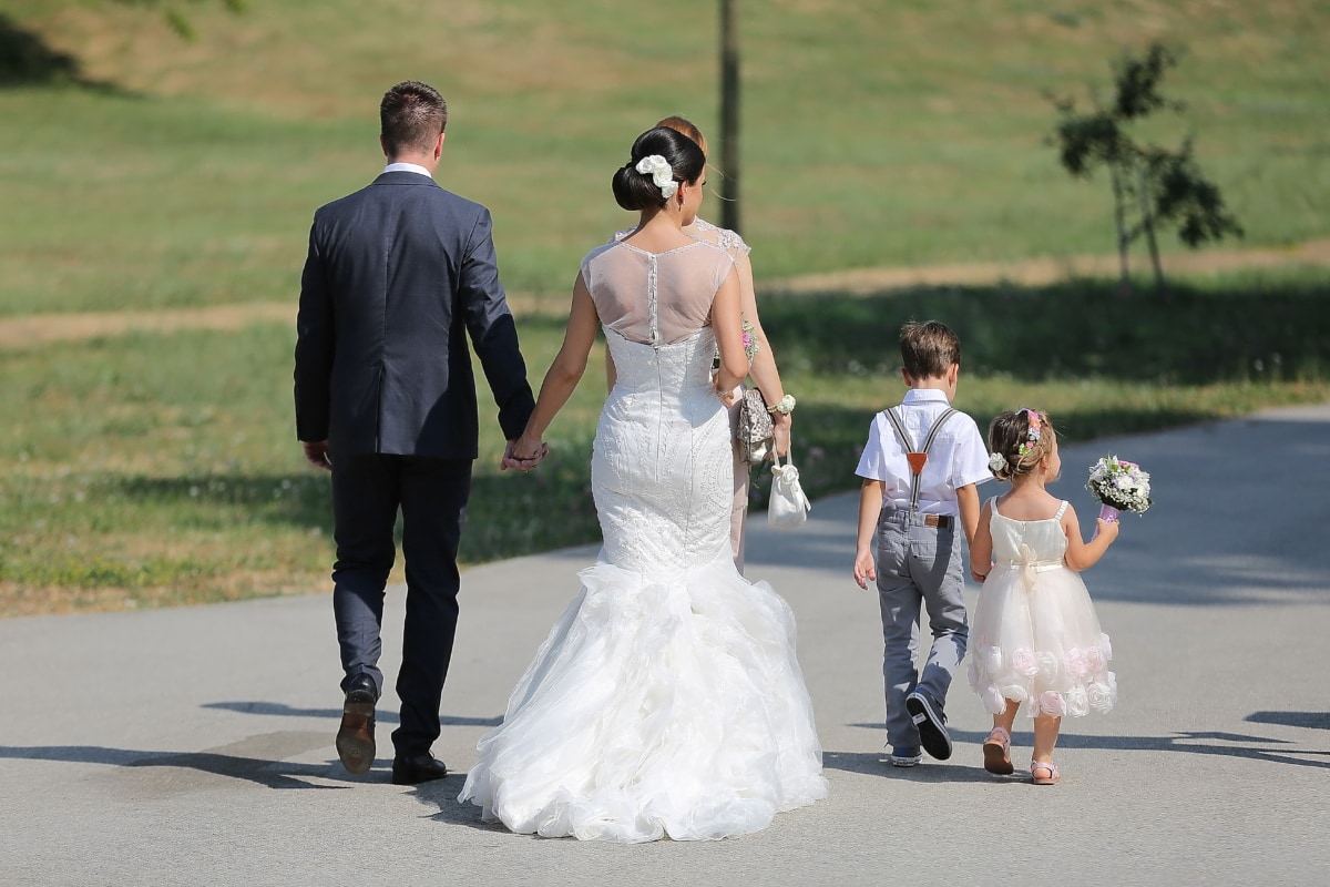 bride, groom, wedding, family, children, father, mother, marriage, dress, married