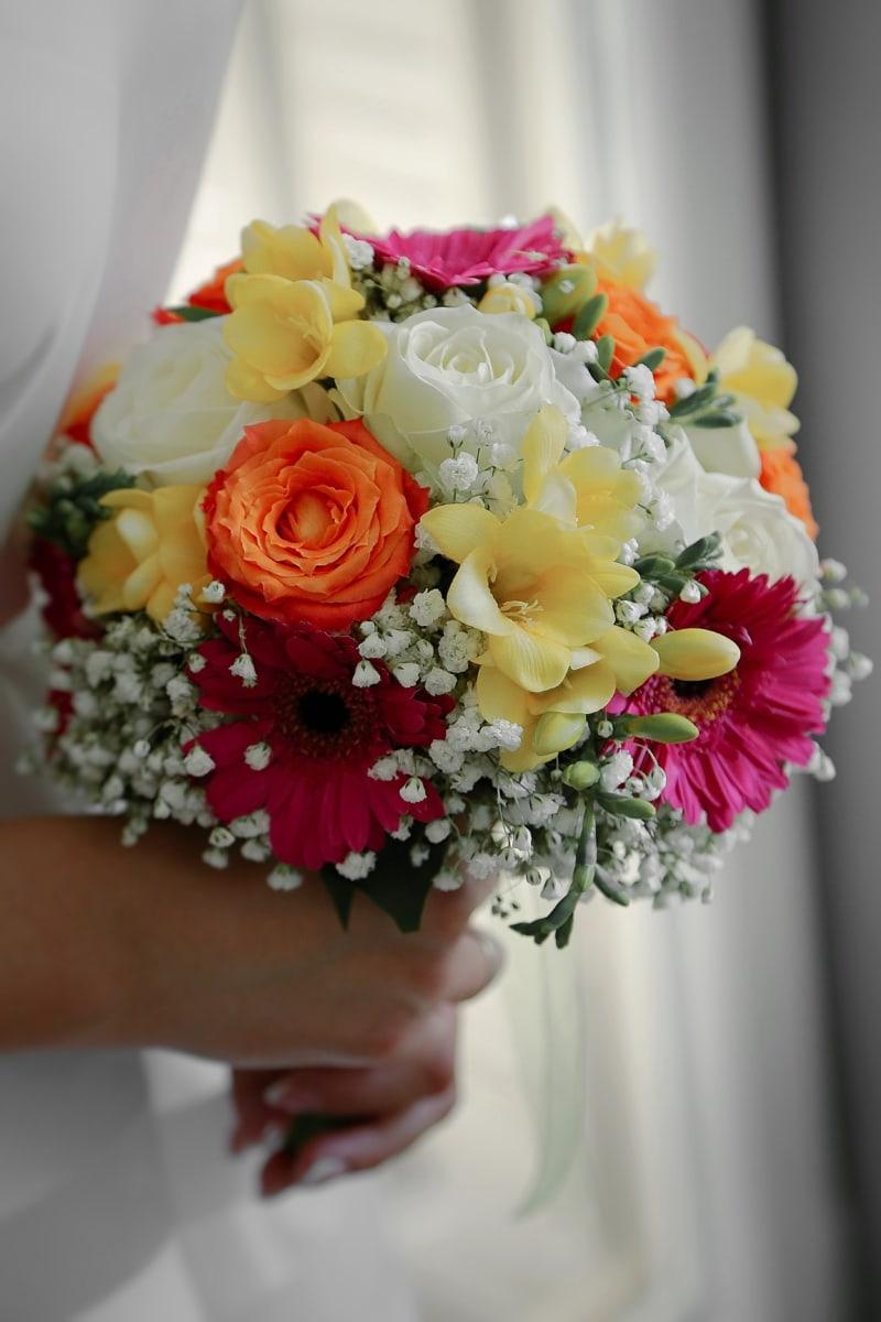 bouquet de mariage, romance, fleur, amour, arrangement, la mariée, bouquet, décoration, mariage, Rose