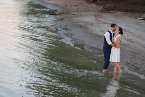 love, water, kiss, riverbank, beach, river, people, girl, flood, man