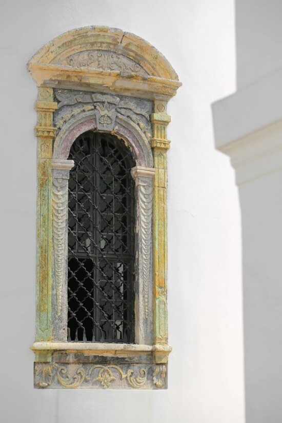 monastery, ornament, windows, handmade, cast iron, architecture, memorial, arch, building, structure