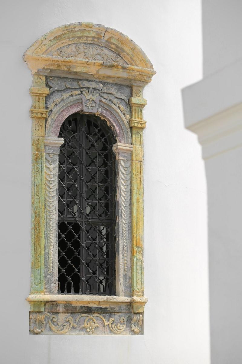 Monastère de, ornement, fenetres, fait main, fer de fonte, architecture, Memorial, arch, Création de, structure