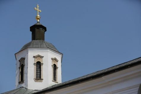 złota, wieża kościoła, Krzyż, Klasztor, religia, dachu, Kościół, architektura, budynek, Kopuła