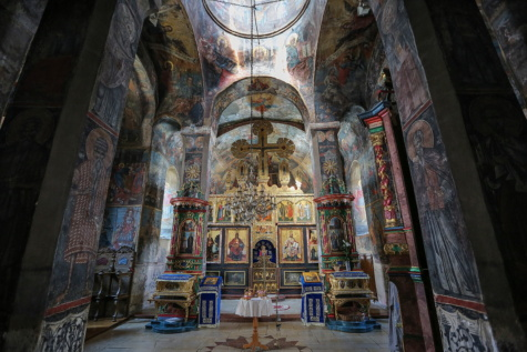 middeleeuwse, Russisch, orthodoxe, kerk, Christendom, altaar, Kapel, pictogram, klooster, interieur