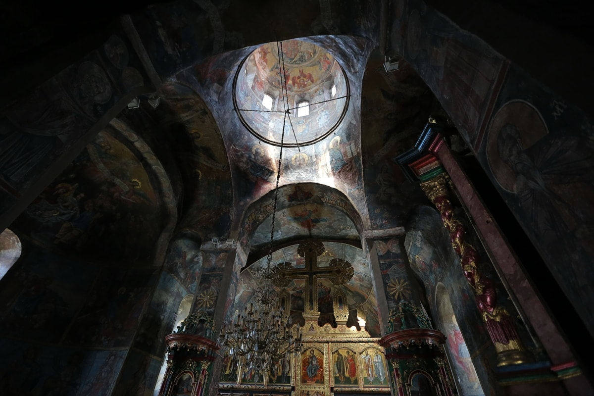 Mosteiro, Bizantina, Igreja Ortodoxa, altar, arquitetura, edifício, Igreja, catedral, telhado, religião