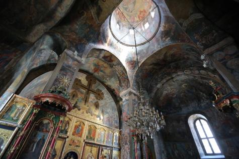 klosteret, interiør, alteret, middelalderen, Serbia, ortodokse, ikonet, kirke, innsiden, arkitektur