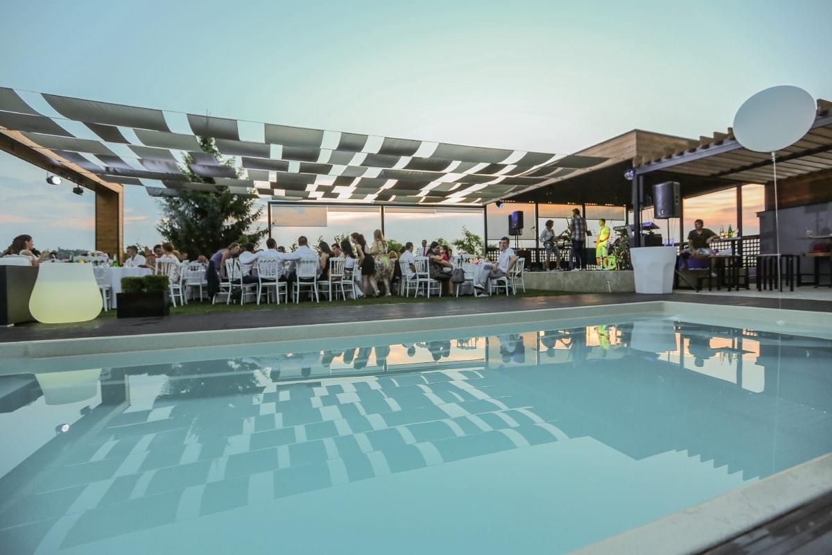 swimming pool, people, relaxation, hotel, restaurant, party, resort area, enjoyment, villa, resort