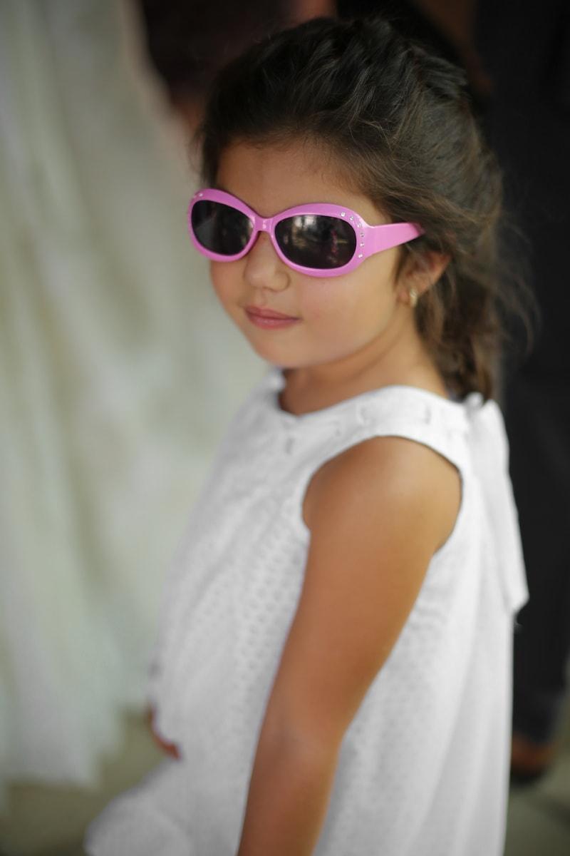 girl, posing, young, child, sunglasses, dress, attractive, fashion, portrait, pretty