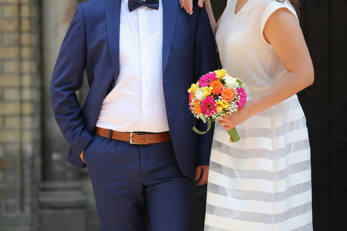 Gentleman, Krawatte Schmetterling, Braut, Bräutigam, Hochzeitskleid, Hochzeitsstrauß, Anzug, Kleidungsstück, Mann, Kleidung