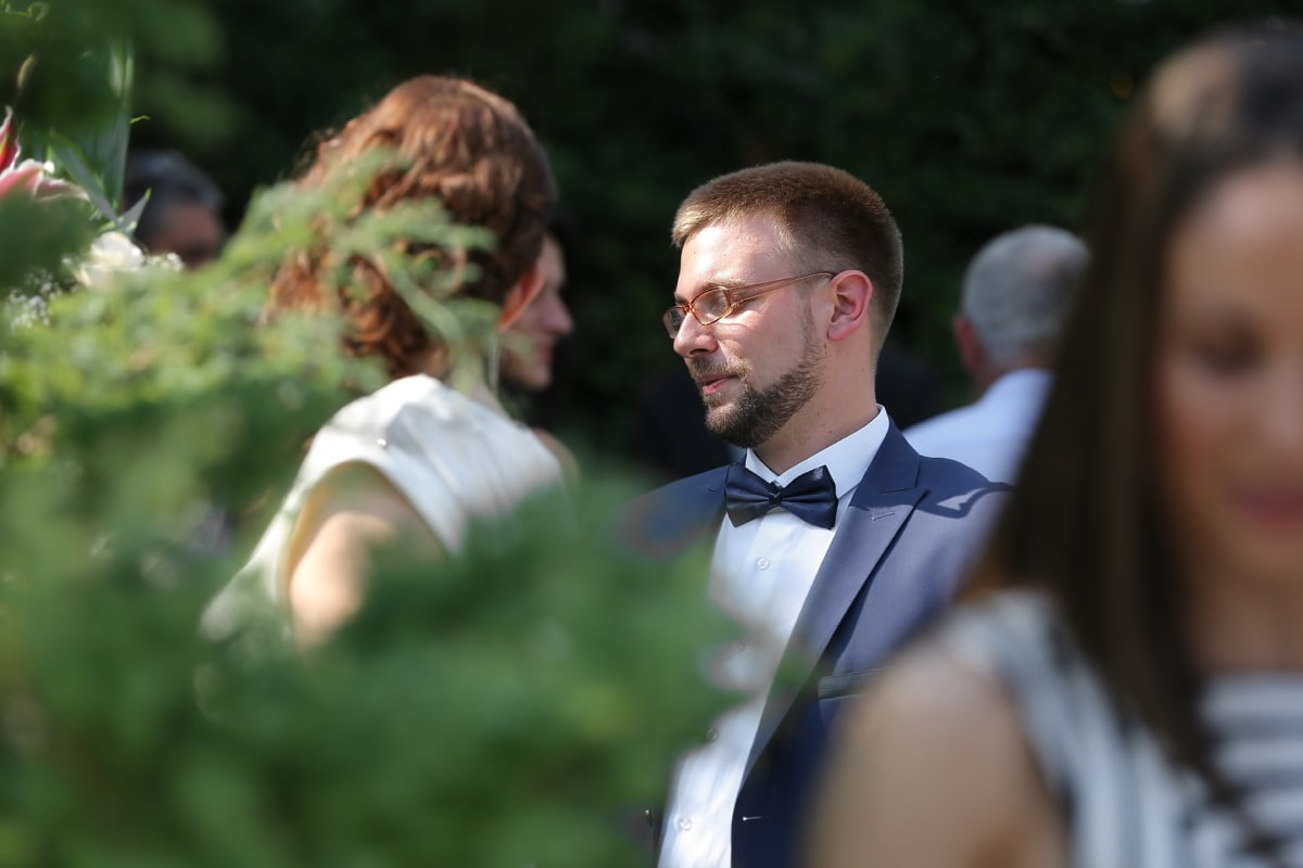 gentleman, meeting, bowtie, suit, beard, fashion, handsome, outfit, person, man