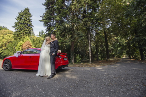 groom, bride, Audi, coupe, car, luxury, glamour, girl, couple, wedding