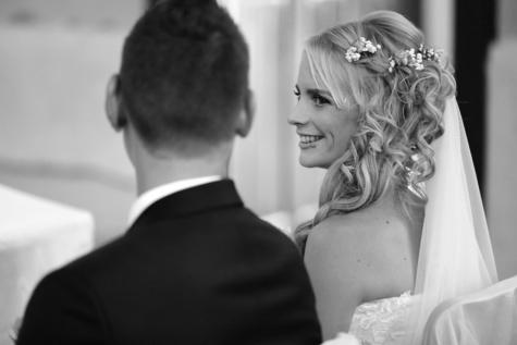 Hochzeitskleid, herrlich, Braut, Bräutigam, auf der Suche, Liebe, paar, Hochzeit, Mann, attraktiv