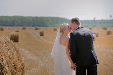 la mariée, genêt à balais, champ de blé, Champ de foin, Agriculture, été, mariage, amour, femme, jeune marié