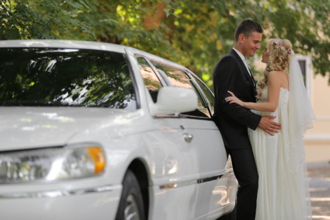 white limousine car, sedan, wedding, bride, groom, automobile, transportation, love, woman