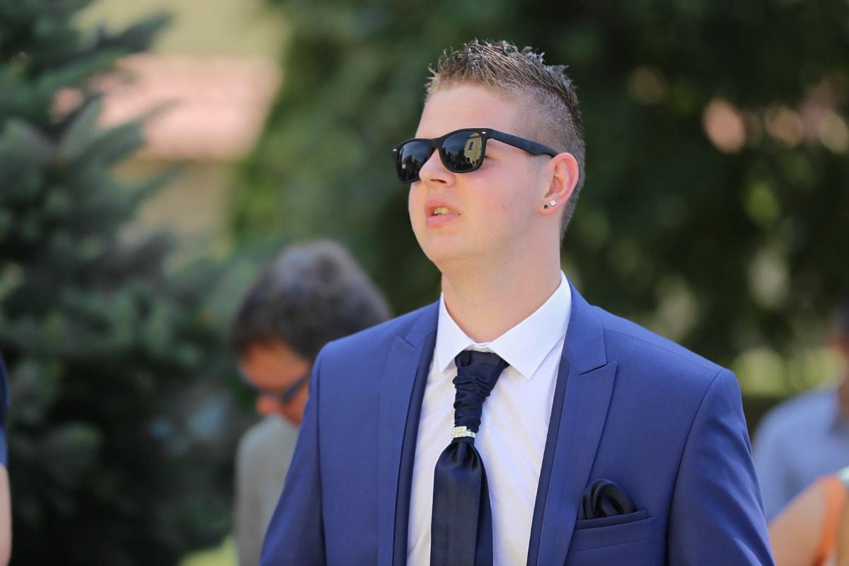 Gentleman, junge, Krawatte, Anzug, Geschäftsmann, Mode, Outfit, gut aussehend, Manager, Porträt