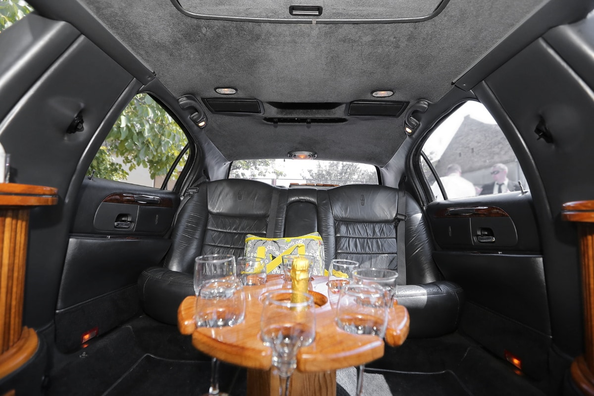 sedan, expensive, inside, elegance, luxury, champagne, wine, car, transportation, seat