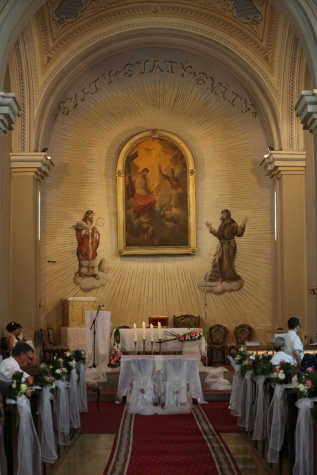 interior decoration, church, catholic, ceremony, people, altar, inside, cathedral, building, religion