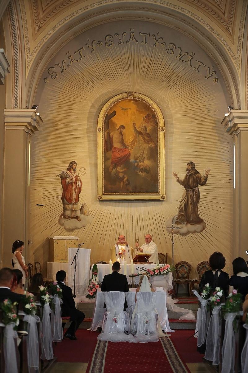 katholische, Kirche, Priester, Hochzeit, Zeremonie, Altar, Kapelle, Religion, Struktur, Kathedrale
