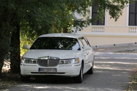 blanc, sedan, coûteux, automobile, voiture, véhicule, Vitesse, asphalte, chaussée, rue