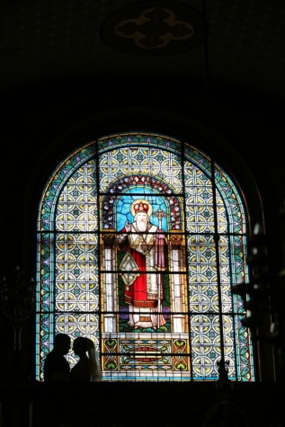 religious, darkness, shadow, stained glass, wedding, marriage, altar, prayer, window, religion