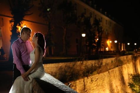 Ρομαντικό, φίλος, φιλενάδα, Προμαχώνας, αγκαλιά, οχύρωση, Κάστρο, γυναίκα, άτομα, πορτρέτο