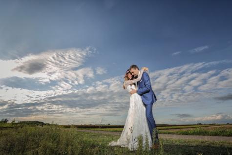 fotografi, pernikahan, pengantin pria, Pengantin, Cinta, Gadis, gaun, pernikahan, matahari terbenam, wanita