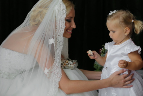 wedding dress, bride, veil, white, dress, pretty girl, child, blond, wedding, woman