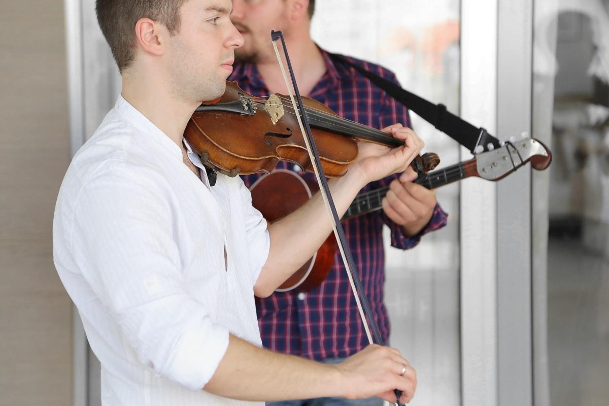 violin, musician, music, guitar, guitarist, melody, harmony, man, instrument, indoors