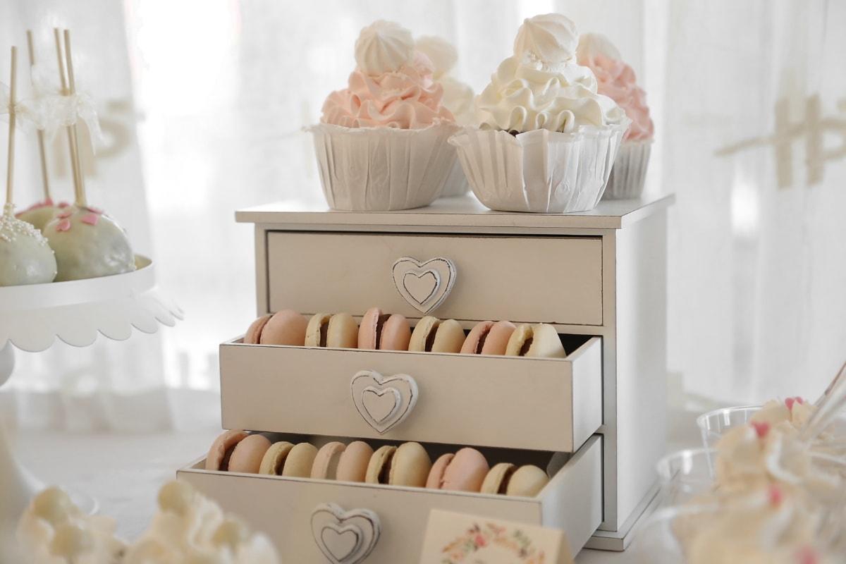 Schublade, hausgemachte, Keks, Jahrgang, handgefertigte, kekse, Essen, sehr lecker, Interieur-design, drinnen