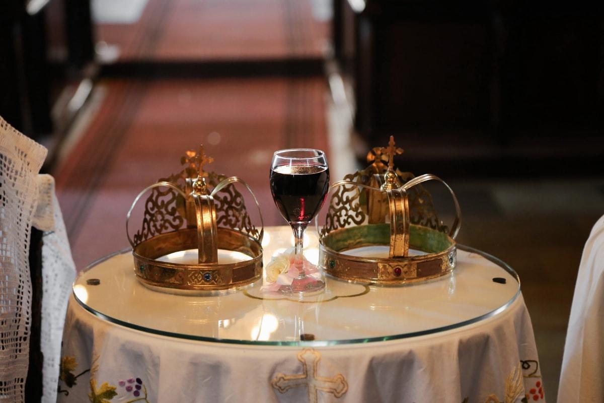 coronation, crown, gold, jewelry, red wine, jewel, wine, luxury, interior design, indoors