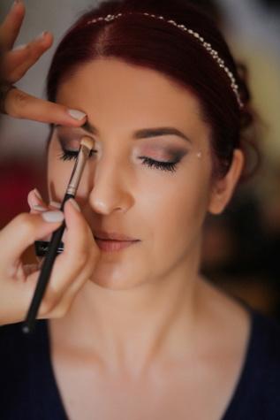 Kosmetyczka, Profesjonalne, Kosmetyki, twarz, makijaż, szczotka, ręce, Narzędzie Rączka, Ładna dziewczyna, ładny