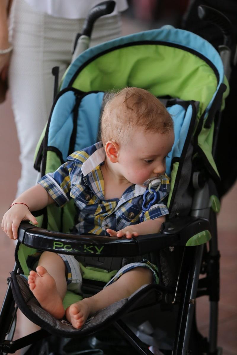 panier, enfant en bas âge, bébé, nouveau-né, fils, garçon, adorable, cheveux blonds, Portrait, jeune homme