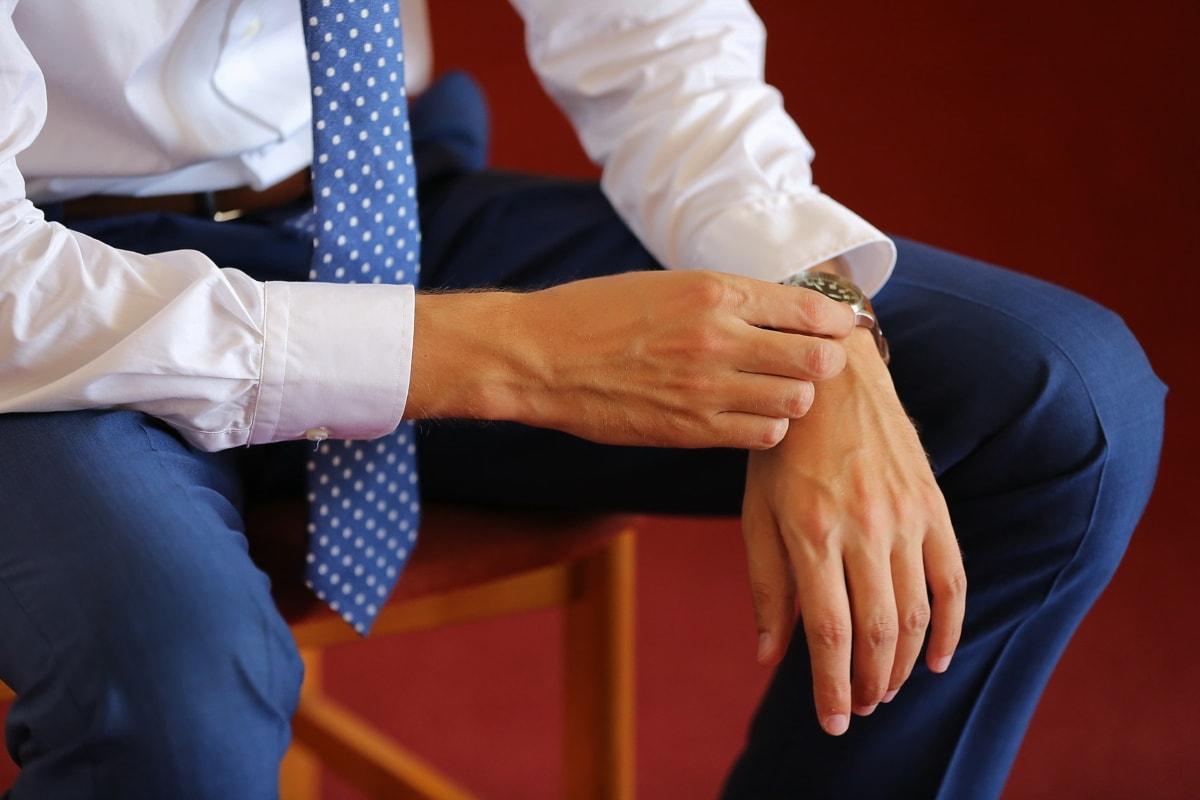 シャツ, 実業家, 衣装, ネクタイ, 手, 男, 人, 手, ビジネス, 綿