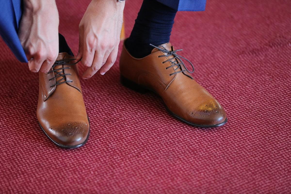 Mann, Schuhe, Schnürsenkel, elegant, Roter Teppich, Eleganz, Klassiker, Mode, Schuh, Leder