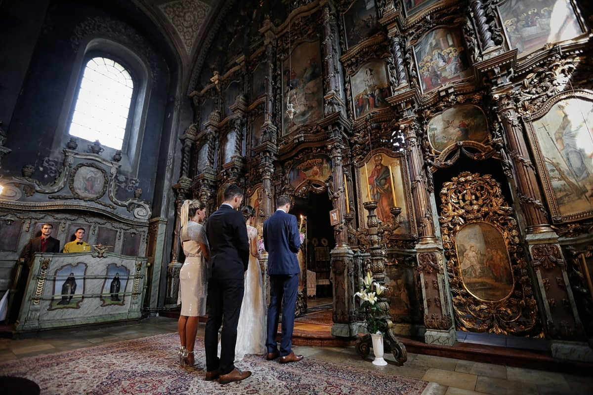 altar, church, wedding, Serbia, orthodox, religion, structure, temple, architecture, cathedral