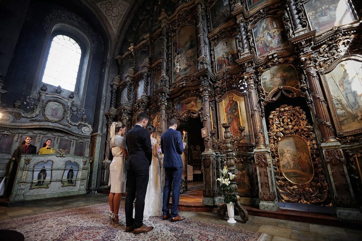 oltár, templom, esküvő, Szerbia, ortodox, vallás, szerkezete, templom, építészet, székesegyház