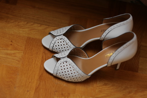 leather, fashion, white, sandal, handmade, elegance, footwear, shoe, wood, indoors