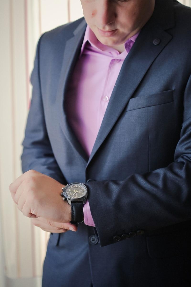 kostym, karriär, affärsman, armbandsur, affärsman, man, kläder, företag, slips, plagget