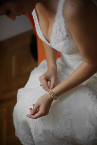 wedding ring, wedding dress, bracelet, bride, woman, wedding, fashion, glamour, love, indoors