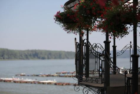 cerca, varanda, feito à mão, ferro fundido, cais, Barcos, doca, parque, Danúbio, luz do dia