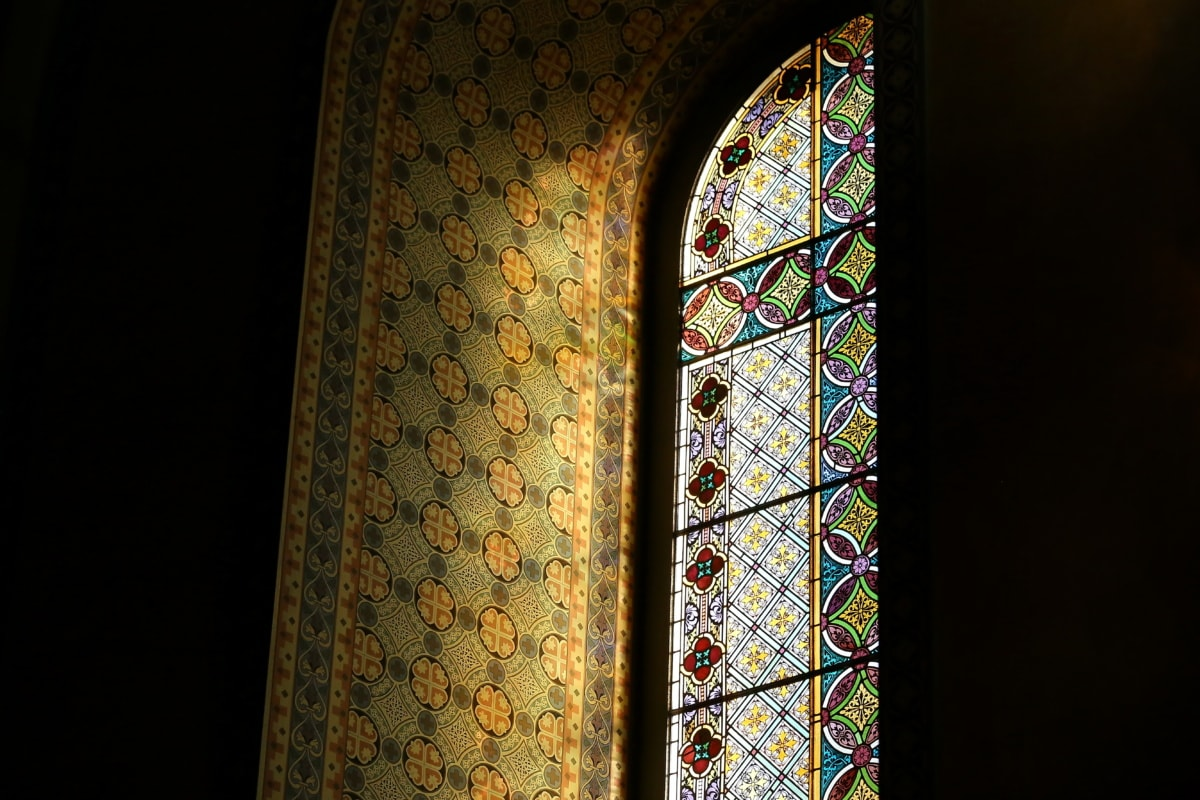 stained glass, design, colorful, arabesque, window, architecture, art, framework, decoration, old